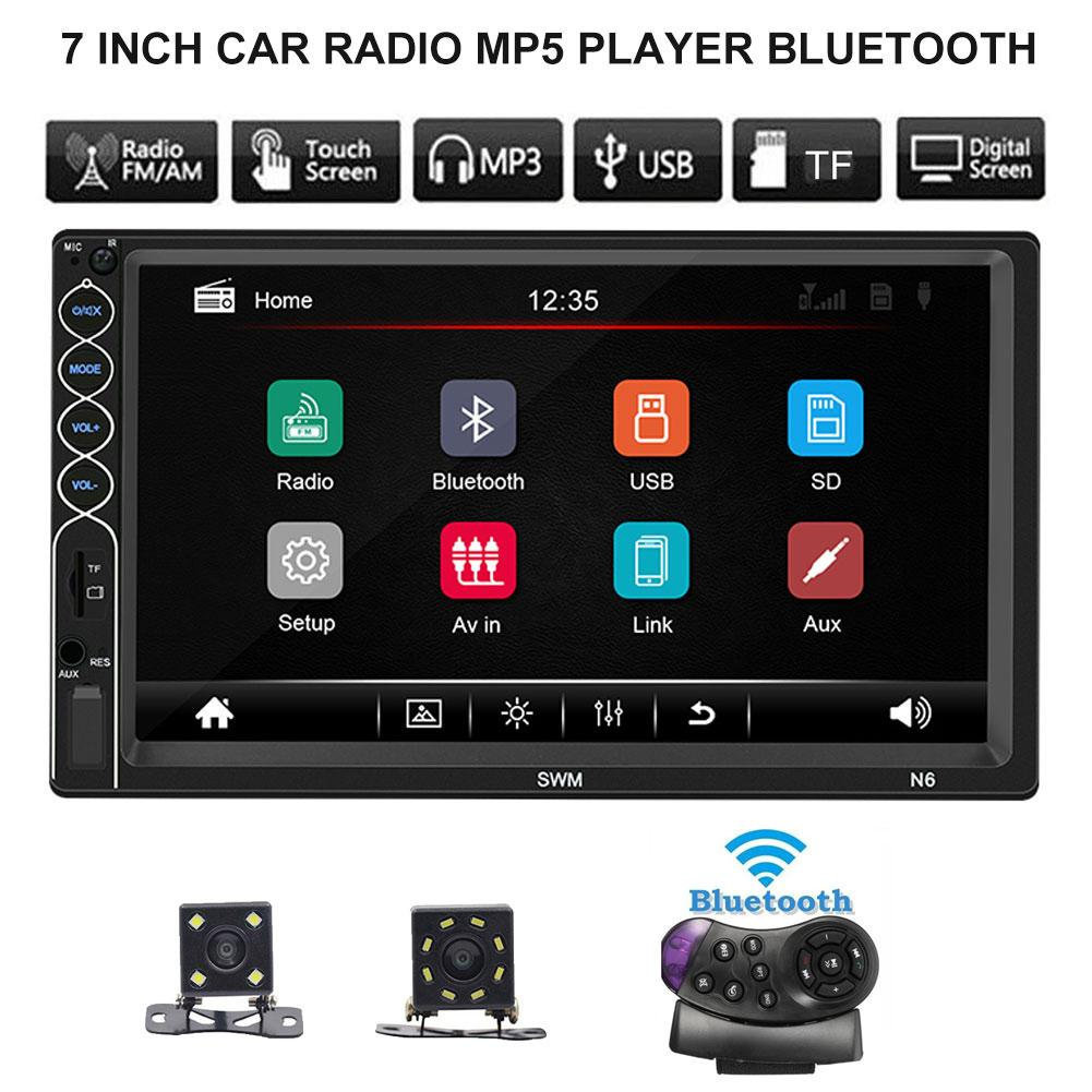 Car MP5 Player N6 7 Inch Screen 2 Din Car Radio Bluetooth Video MP5 Player With Camera For IPhone XR.