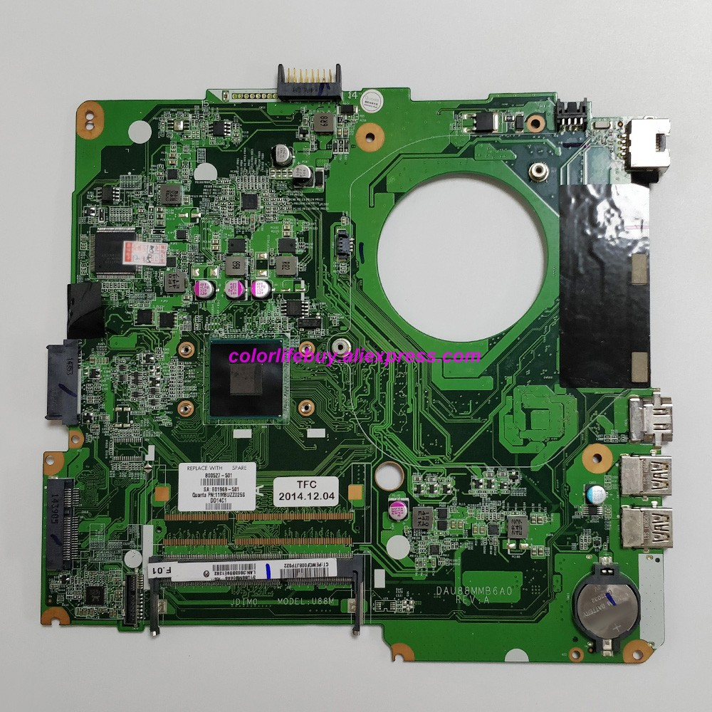 Genuine 800527-501 DAU88MMB6A0 W CelN2840 CPU Laptop Motherboard For HP Pavilion 14-y001la 14-Y Series NoteBook PC