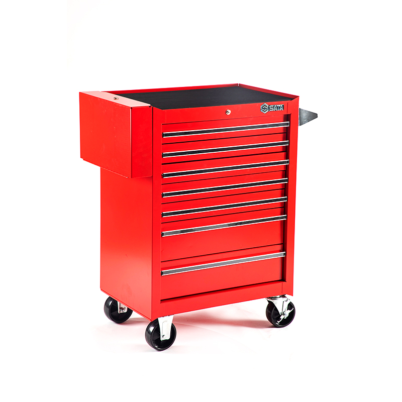 SATA 95107 For Tools. Trolley (680X458x860) 7 Retractable. Trays. Multi-Function Tool Trolley