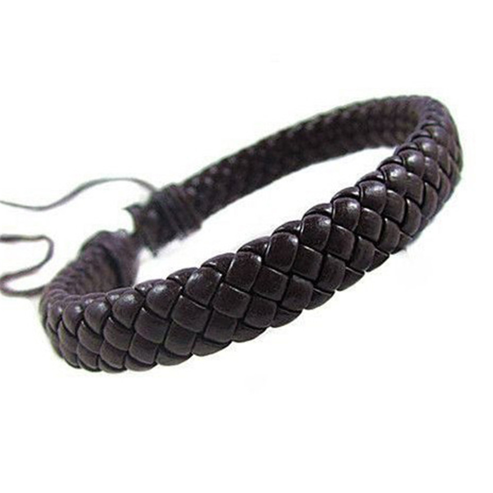 Simple Design Black Leather Bracelet For Women Men Punk Rope Chain Charms Bangles Gothic Jewelry Gifts A621