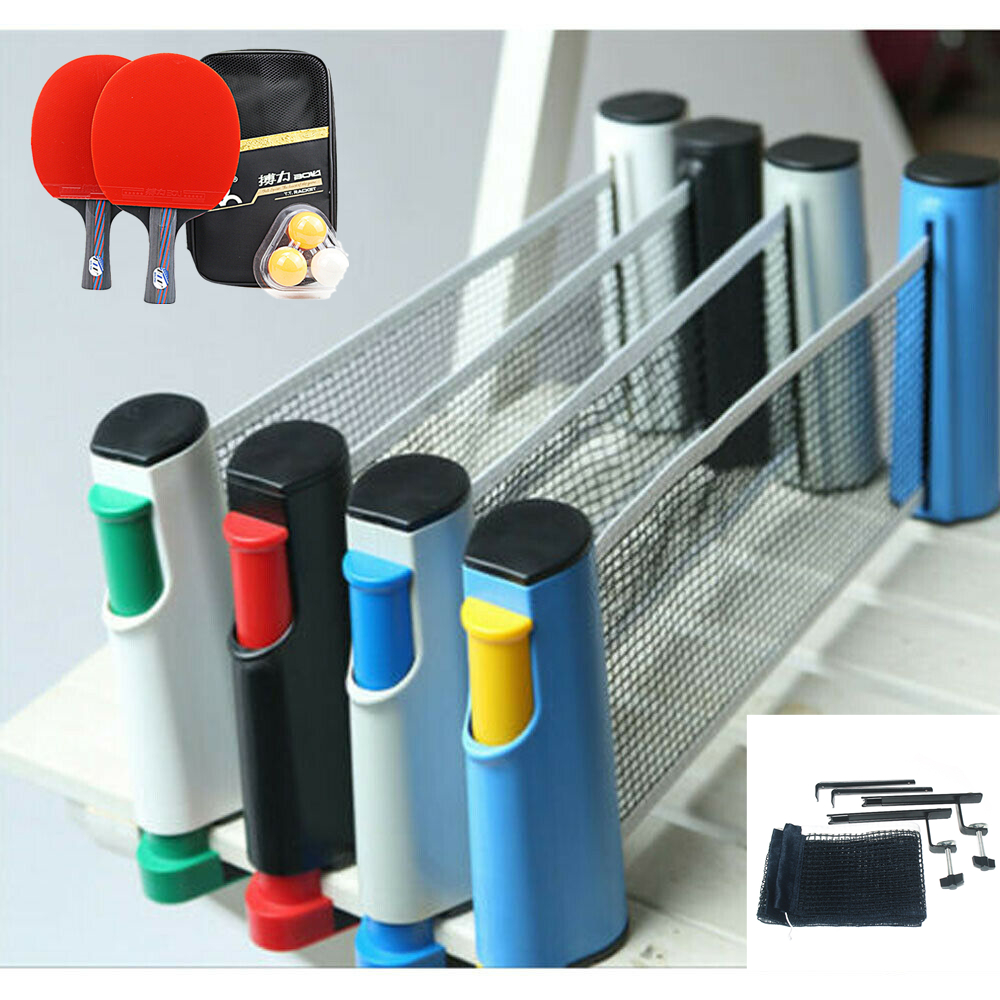 Portable Table Tennis Net Retractable Ping Pong Post Net Rack For Any Table Anywhere Non Slip Table Tennis Net Replacement