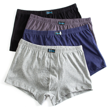 Трусы-боксеры мужские 4 шт./упаковка, свободные короткие штаны, хлопковое нижнее белье, большие размеры 6XL 7XL 8XL, XXXXL, 2019