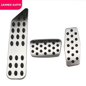 Image 2 - Jameo 自動ステンレス鋼車のペダルパッドペダルシボレークルーズ trax オペル mokka ためマリブ 2013 2018 アストラ j 記章