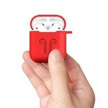 애플 airpods에 대 한 부드러운 실리콘 케이스 충격 방지 커버 이어폰 케이스에 대 한 공기 포드 보호 커버 방수