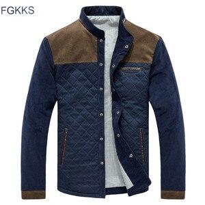 Image 1 - جاكيت أنيق للرجال من FGKKS معطف للخريف للرجال بقصة ضيقة غير رسمية جاكيت معطف رجالي عالي الجودة ملابس