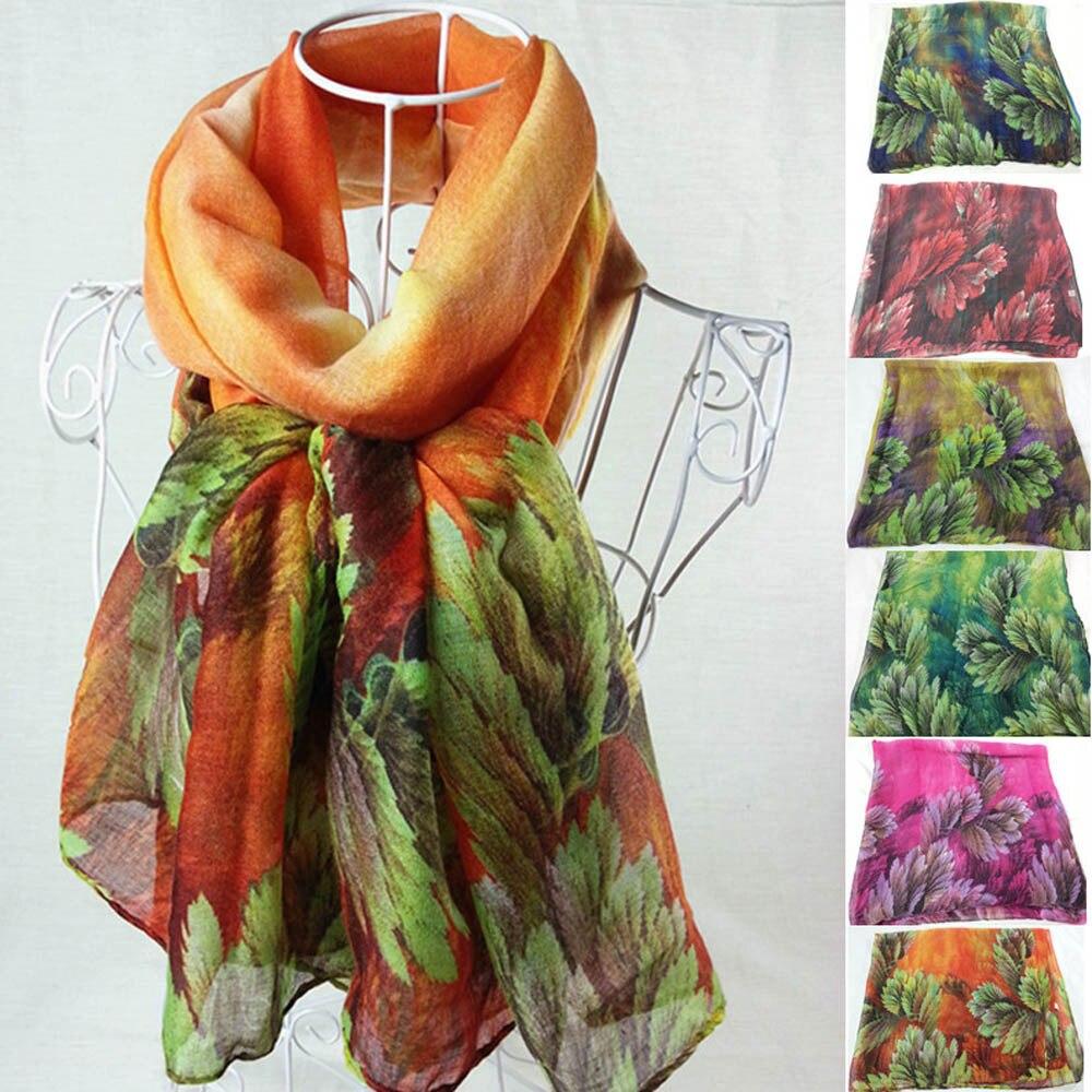 Floral Print Thin Foulard Silk Satin Scarf Vintage Women Printing Long Soft Paris Yarn Scarf Wrap Shawl Stole Pashmina Scarves(China)