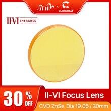"""Cloudray II VI Znse Focus Lens Dia. 19.05Mm 20Mm Fl 50.8 101.6Mm 2 4 """"Voor CO2 Lasergravure Snijmachine Gratis verzending"""