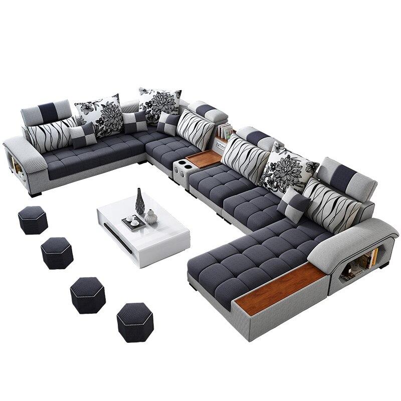 Sofa materiałowa, nowoczesny, minimalistyczny rozmiar, apartament, szezlong, salon, kombinacja, Nordic, anglia, nowy, LU, technologia, tkanina, sofa