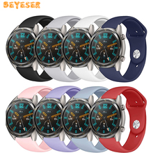 Silicone watch band For huawei watch GT 22mm straps For Samsung Galaxy 46mm/gear S3 watches strap Replacement wristband Bracelet stainless steel for huawei watch gt watches strap 22mm for samsung galaxy 46mm gear s3 watch band replacement bracelet wristband