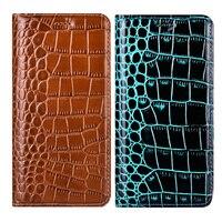 Poco M3 Pro 5G Crocodile Genuine Leather Flip Phone Case For Xiaomi Mi Poco X3 Pro X3 NFC F2 F3 M3 Pro Pocophone F1 Cover Case