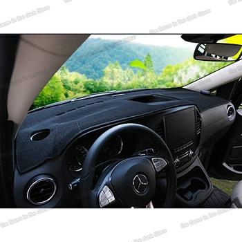 цена на lsrtw2017 ployester anti-reflective car dashboard mat for mercedes benz vito 2014 2015 2016 2017 2018 2019 2020 w447 carpet pad