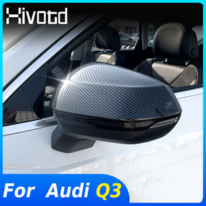 Image 1 - Hivotd For Audi Q3 2020 2019 Car Rearview Mirrors Case Side Wing Mirrors Cover Trim Protection Exterior Modification Accessories