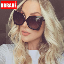 RBRARE Fashion Ladies Sunglasses Tom Brand Big Frame Rivet Sun Glasses for Women Butterfly Shades Lunettes De Soleil Femme