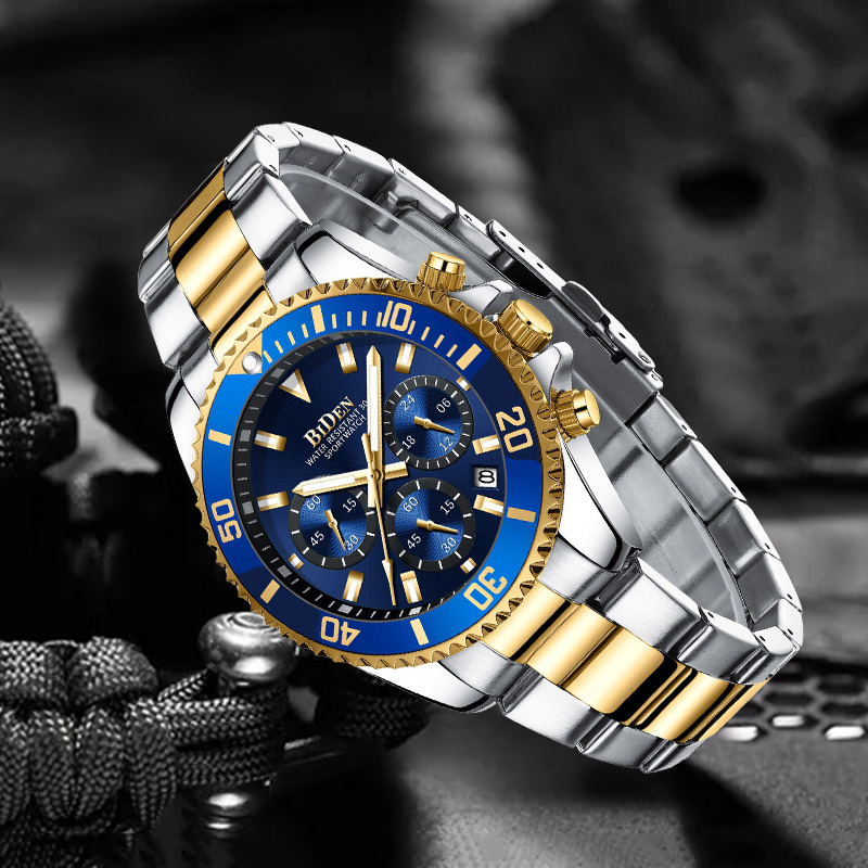 Mens Watches Top Brand Luxury Gold Watch For Men Rolexable Quartz Wrist Watch Man Sports Waterproof Date Chronograph Wristwatch