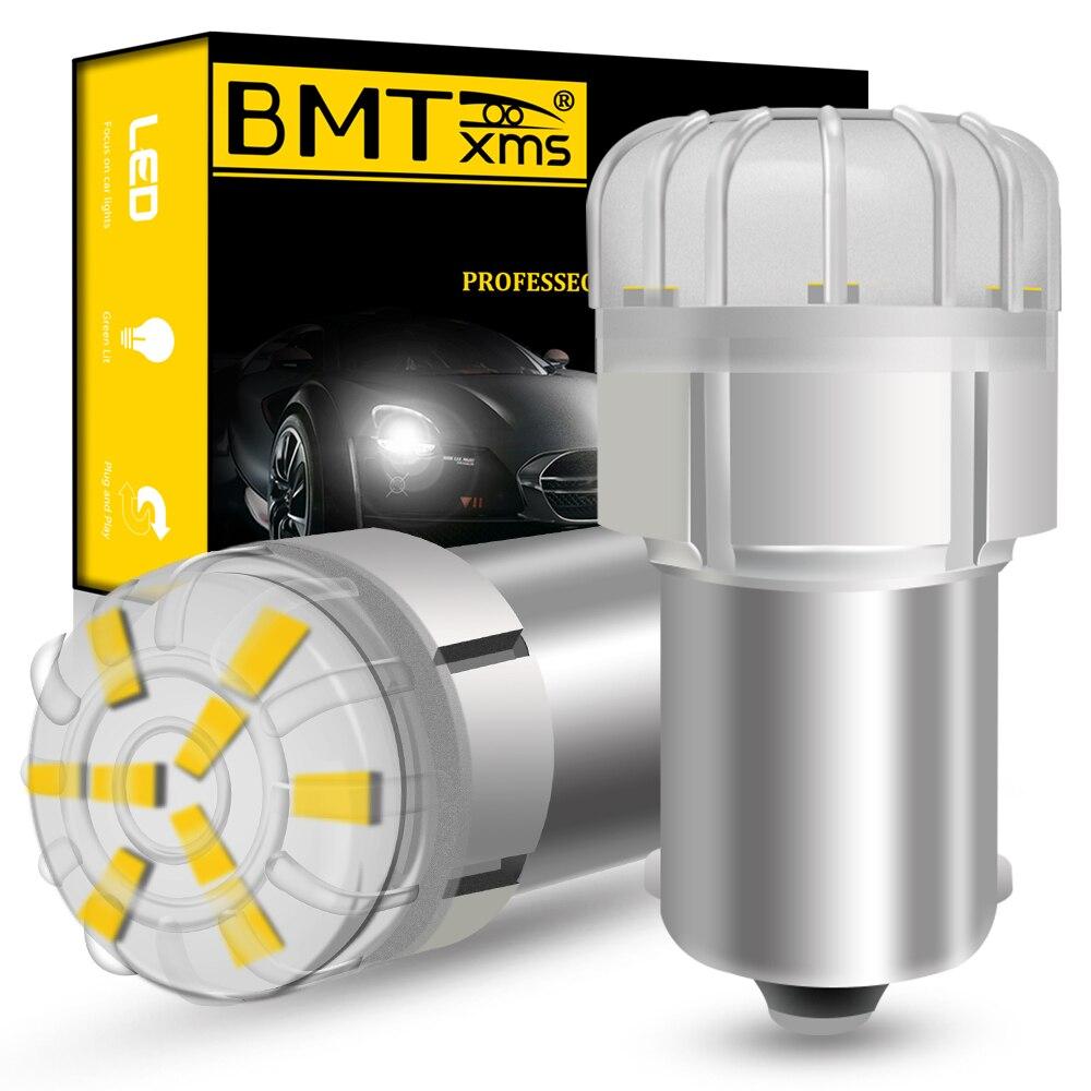 BMTxms-2 uds. De luz LED trasera para coche, Canbus para BMW Serie 1, 2, 3, 4, F20, 22, 25, 26, 30, 32, E90, 91, X1, 3, 4, Z4, P21W, BA15S