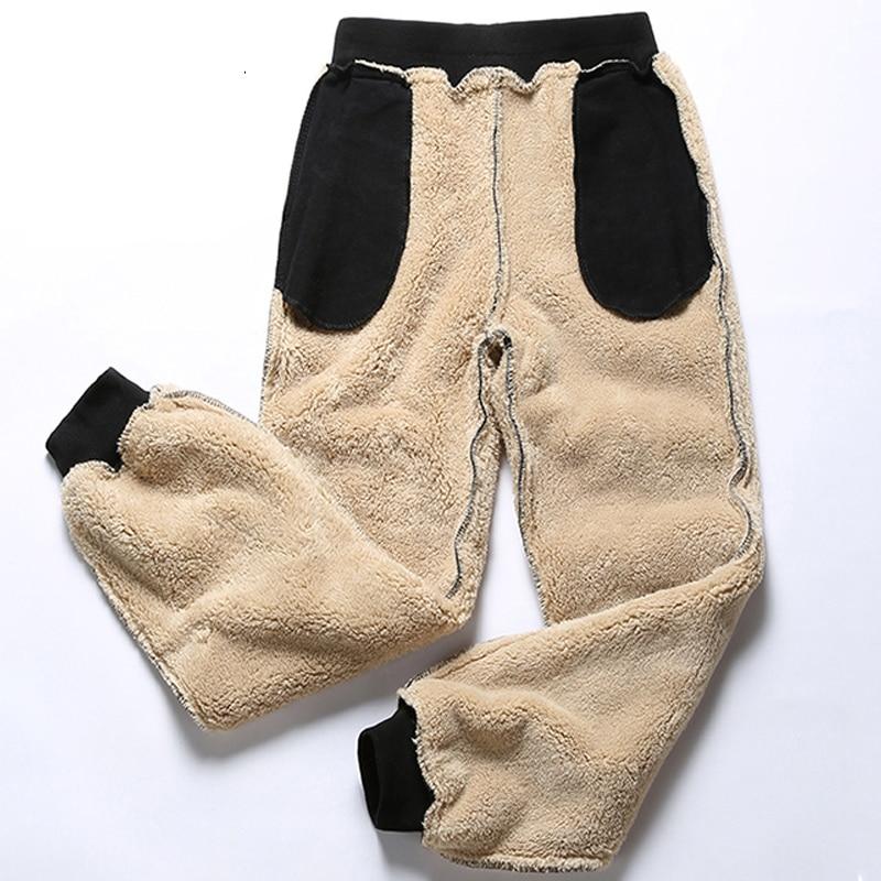 Anbican Brand Winter Casual Pants Men Thick Fleece Cotton Sweatpants Jogger Sportswear Trousers Big Size 6XL 7XL 8XL