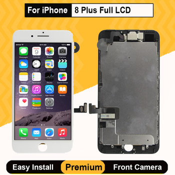 Full Set LCD For iPhone 8 Plus Display Digitizer Assembly 3D Touch Screen Replacement Front Camera Earpiece Speaker With Gifts