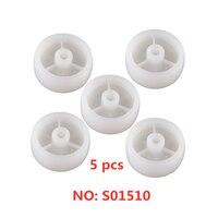 5 pcs da 1.5 pollici Bianco Pp Singola Ruota Diametro 40 di Plastica Resistente All'usura di Nylon Caster Mobili