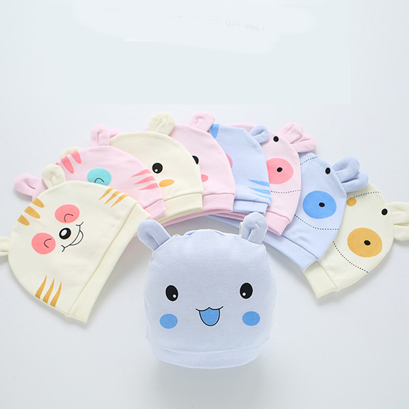 Newborn Baby Hat Unisex Bunny Piggy Patterns Available Soft Cute Baby Cap Toddler Infant Boys&Girls Newborn Hat For 0-6 Months