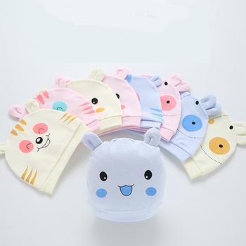 Nowonarodzona czapka dla niemowląt Unisex Bunny Piggy wzory dostępne miękka śliczna czapka dziecięca maluch niemowlę chłopcy i dziewczęta czapeczka niemowlęca dla 0-6 miesięcy tanie i dobre opinie GAOKE CN (pochodzenie) COTTON Poliester Adjustable Cartoon baby 0-3 miesięcy 4-6 miesięcy 7-9 miesięcy 10-12 miesięcy