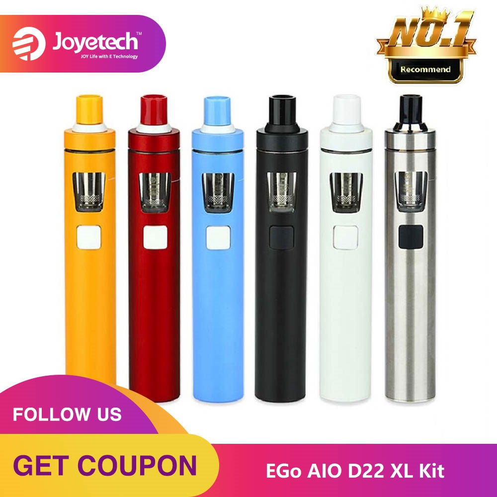 Kit Original Joyetech EGo AIO D22 XL réservoir 4ml et batterie intégrée 2300mAh Kit de démarrage vaporisateur tout-en-un Ego Aio XL Vs Ego Aio