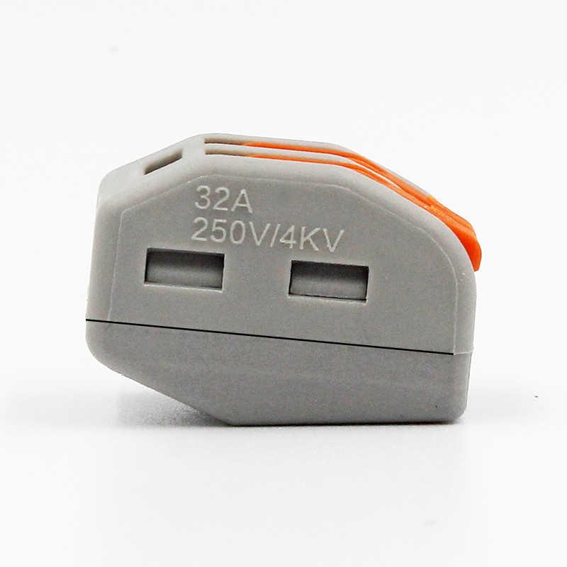 سلك موصل سريع محطة كتلة محول القابس رمادي/شفاف اللون 32A RF ، الإضاءة 30/50/100 قطع Mini Universal
