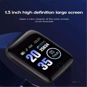 Image 2 - スマートウォッチ 116 プラスカラー画面心拍数リストバン腕時計スマートバンド防水スマートウォッチandroid ios
