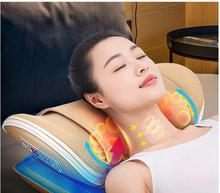 U shape Neck Massage Pillow Waist Cervical Shiatsu Back Massage Cushion Heating Relax Cervical Massager Electric Airbag heating therapy u shape pillow neck cervical vertebra massager moxa moxibustion far infrared treatment travel nap massage relax