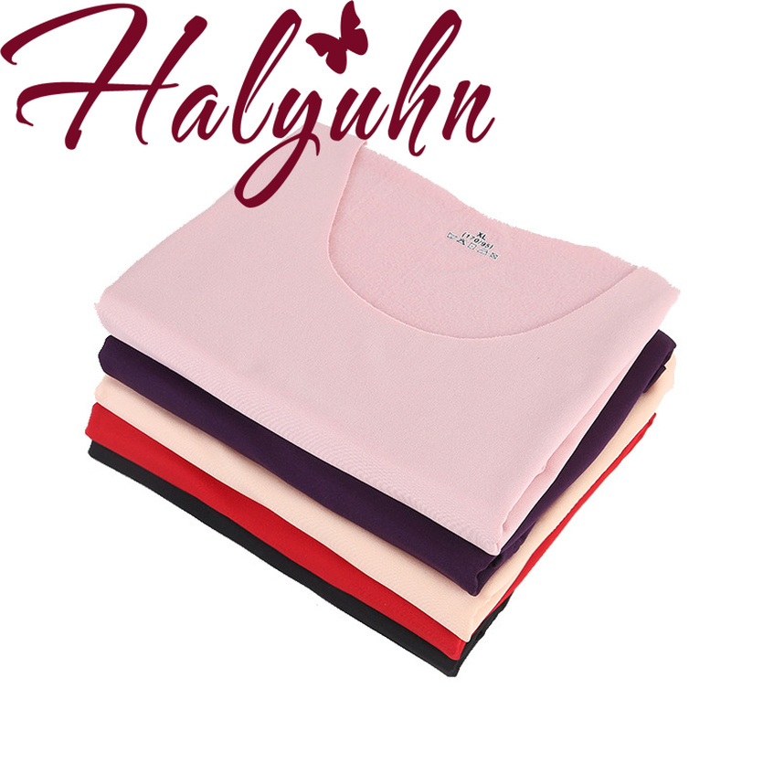 Halyuhn Women's Thermal Underwear Double Layer Plus Velvet Padded Vest No Trace Warm For Russian And Canadian Women In Europe