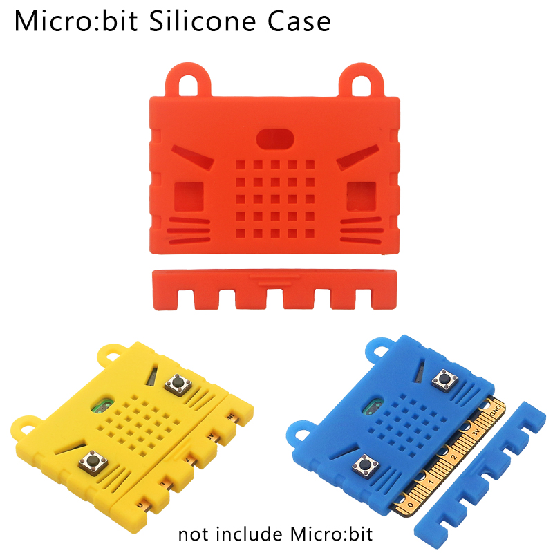 Silicone Case For BBC Micro:bit Short Circuit Proof Shell Blue Red Yellow Box For Micro:bit