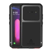 LG V60 ThinQ su geçirmez kılıf şok kir geçirmez su geçirmez LG V60 Metal zırh kapak telefon LG kılıfı V60 ThinQ kılıf