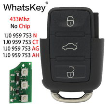 WhatsKey Remote Car Key For Volkswagen VW 1JO959753N 1J0959753CT 1KO959753G Beetle Bora Passat B5 Golf Polo