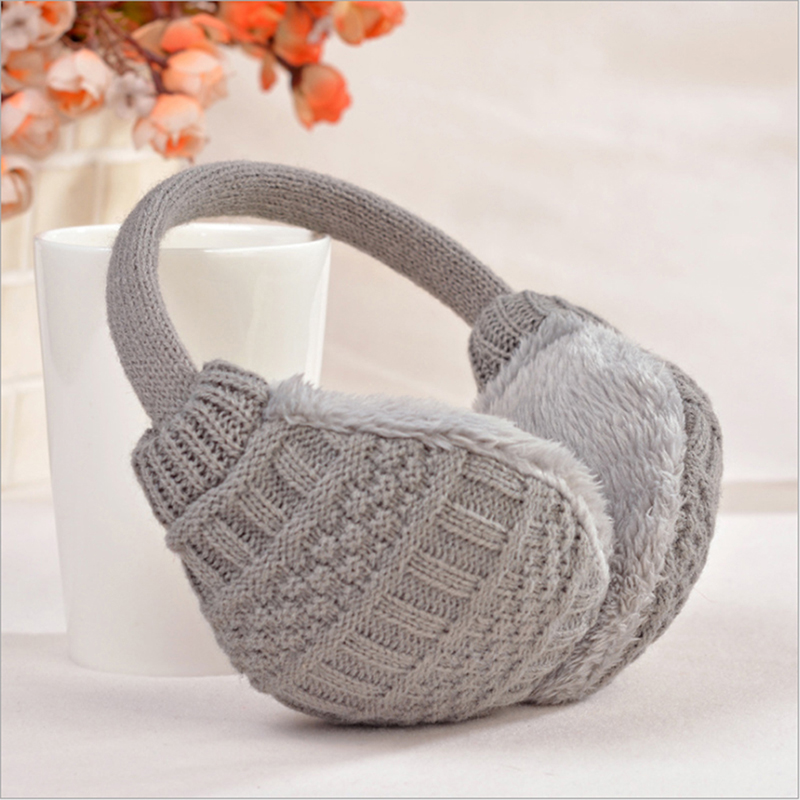 Women Warm Ear Muffs Cover Knitted Earmuffs Winter Ear Protector Plush Winter Ear Warmers