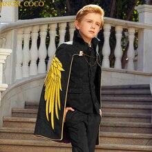 Garnitur dla chłopca eleganckie chłopięce garnitury na wesela kostium imprezowy Enfant Garcon Mariage bracia sukienki pana młodego Conjunto Menino