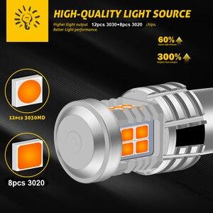 Image 3 - 2 個 7507 Bau15s PY21W Led ターン信号電球内蔵抵抗 Can バスエラーフリーいいえハイパーフラッシュ 2800lm アンバー黄色、白