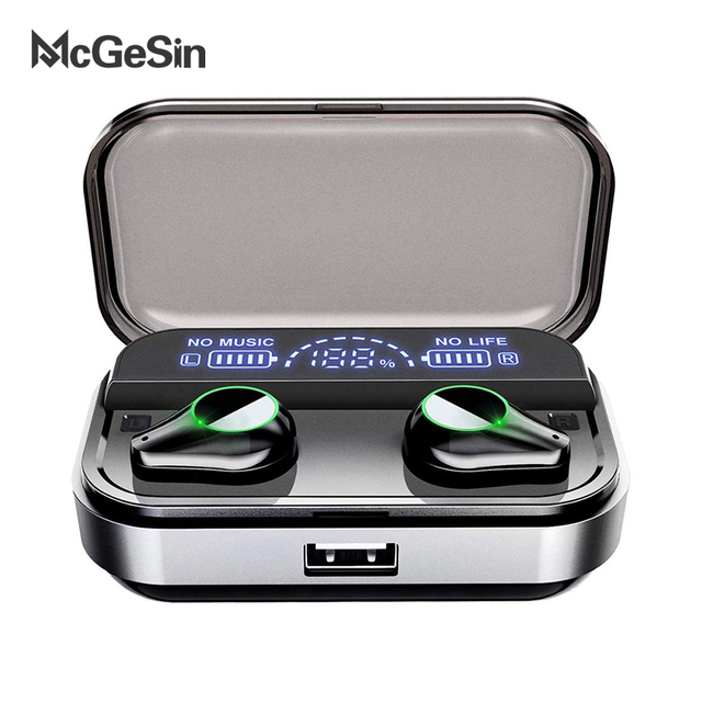 T10 Tws Earphones Wireless Headphone Bluetooth 5.0 Sport Touch Control Wireless Headsets Power Display Earbuds With Charging BOX
