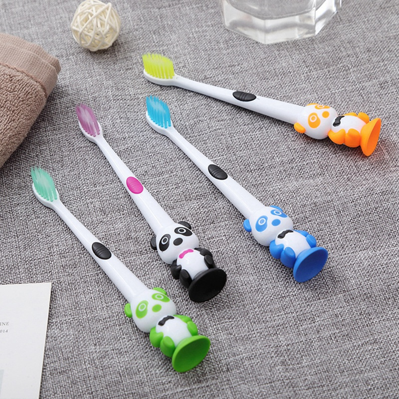 Baby Cartoon Toothbrush Soft Panda Shape Kids Dental Oral Care Brush Tool Tooth Brushes Bristles Toothbrush image