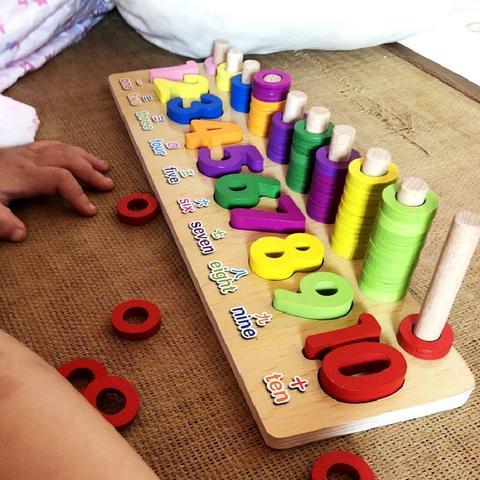 novo multi funcao pre escolar de madeira montessori brinquedos