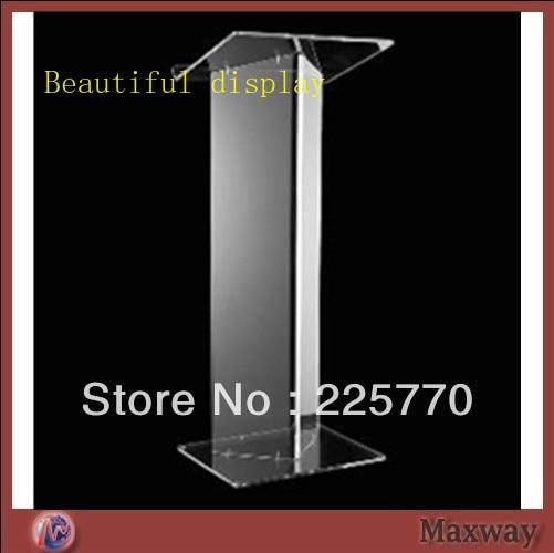 Transparent Acrylic School Lectern / Acrylic Platform / Perspex Rostrum / Plexiglass Dais