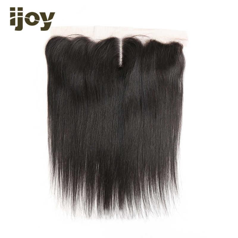 """Прямые передние человеческие волосы с 4x13 кружева натуральный Цвет 8 """"-20"""" M бразильские волосы Non-Волосы remy расширения IJOY"""