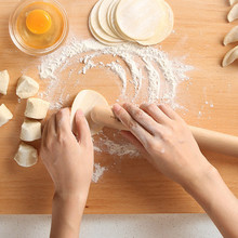 Wooden Rolling Pin Cookies Baking Dough Roller Kitchen Dinin