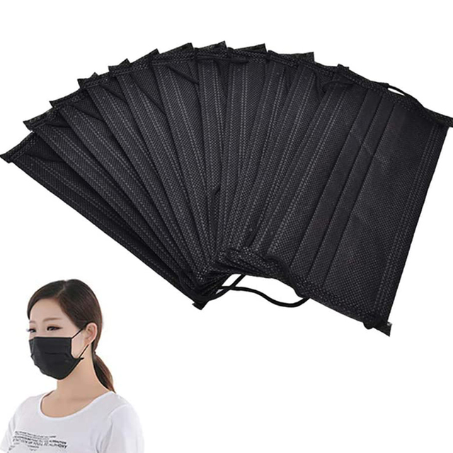 50Pcs Disposable Breathable Anti Bacteria Dustproof Protection Mouth FaceMask маска тканевая для лица In stock fast shipments 3