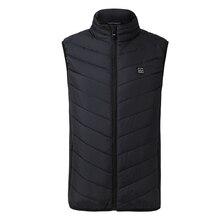 цена ZYNNEVA 2019 New Men Women Electric Heated Vest Heating Waistcoat USB Thermal Warm Cloth Feather Hot Sale Winter Jacket GC1101 онлайн в 2017 году