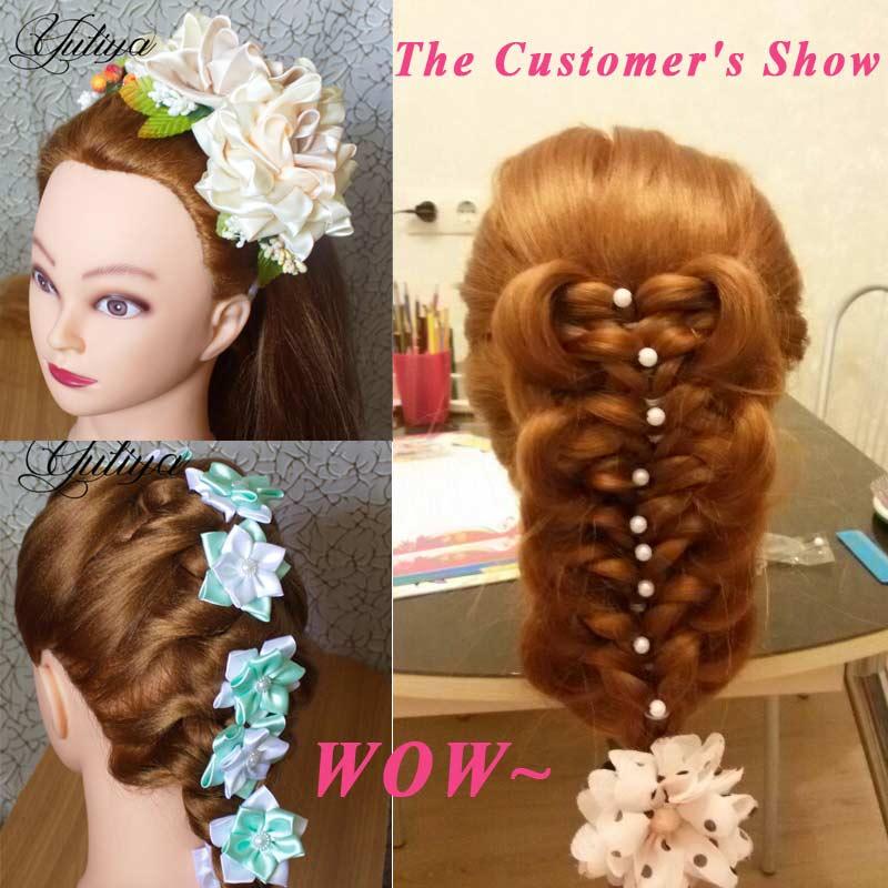 Энергичная профессиональная тренировочная голова с волосами, синтетический манекен для волос яки, манекен для волос в стиле харистайл, женский манекен для укладки