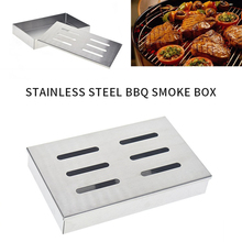 Meat-Smoker-Box Grill-Accessories Bbq-Grill Barbecue Wood Stainless-Steel for Chips