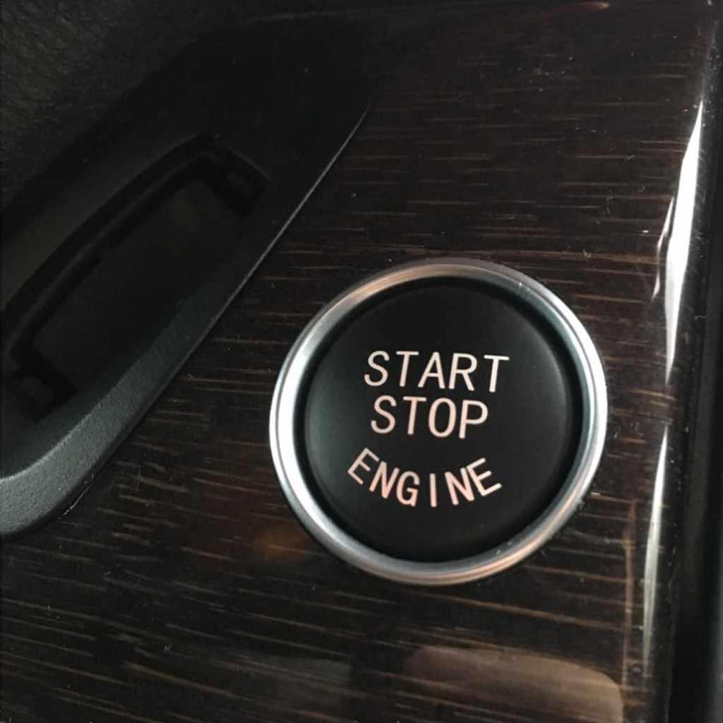 מכונית קריסטל יהלומים מנוע START STOP לחצן להחליף כיסוי מתג אביזרי מפתח עבור BMW X1 X5 X6 E71 Z4 E89 3 5 סדרת E90 E60