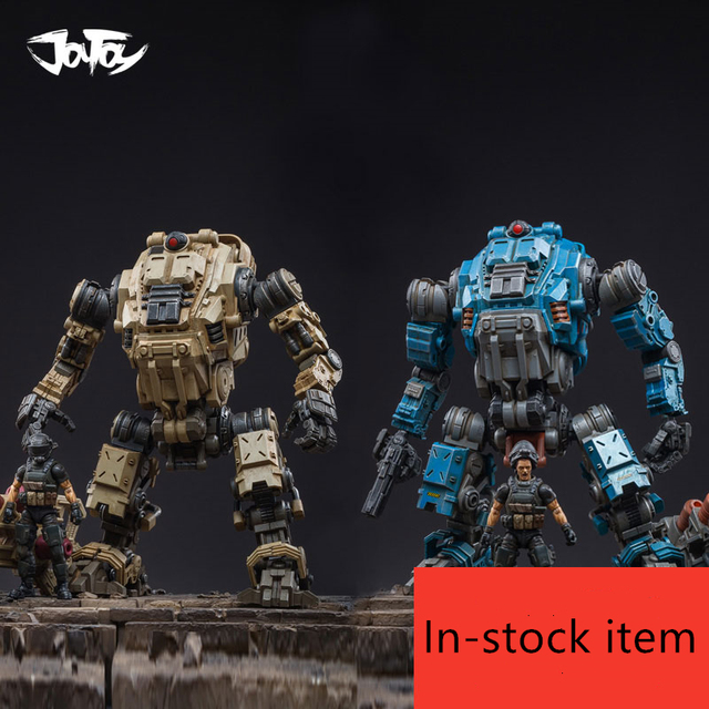 2020 NEW JOYTOY 1/18 FREE MECH robot and soldier figures(4Pcs/lot) New Years gift for boy Free Shipping