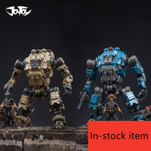 2020 NEW JOYTOY 1/18 무료 MECH robot and soldier figures (4 개/몫) 소년을위한 새해 선물 무료 배송