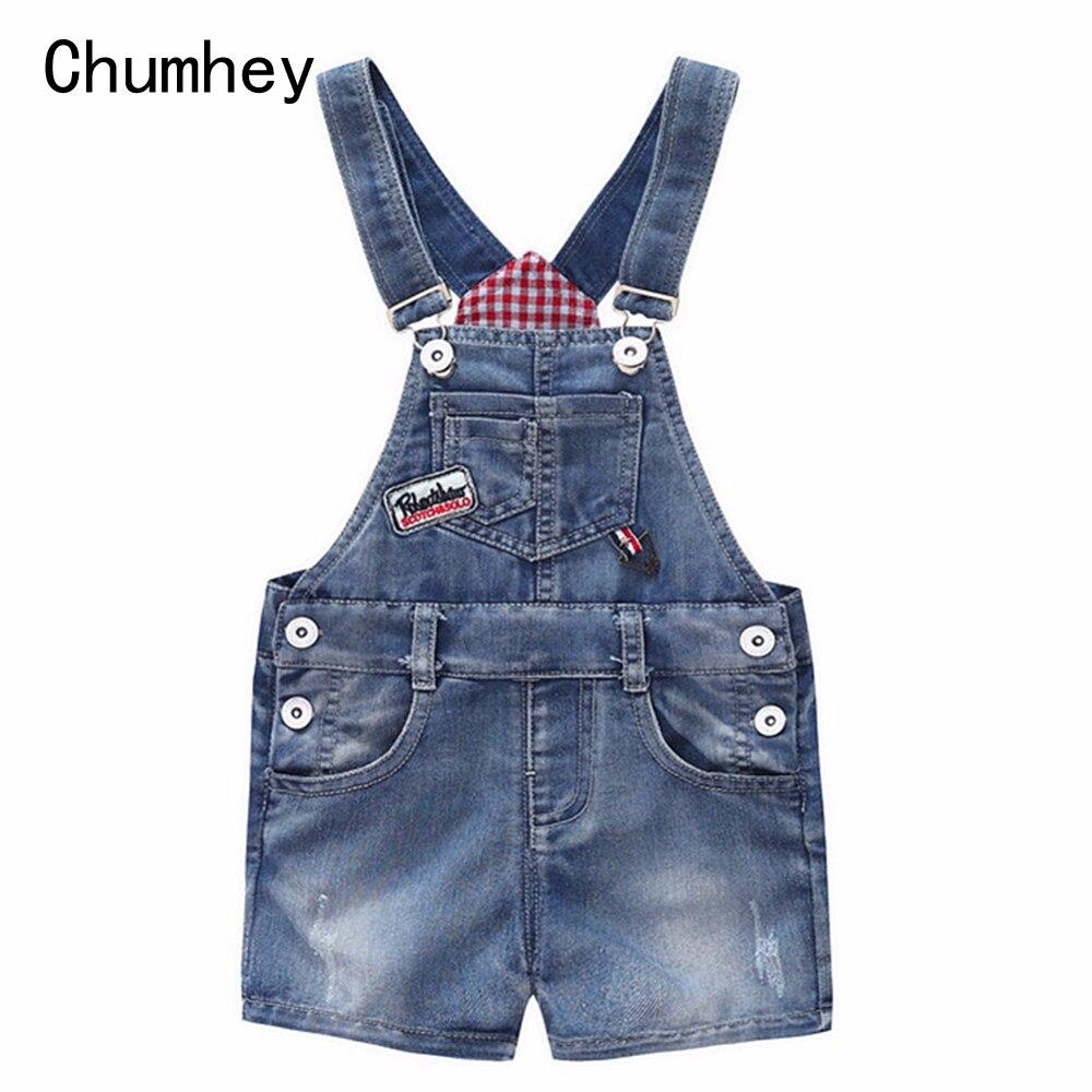 9M-10T Baby Sommer Jeans Overalls Infant Shorts Kleinkinder Kinder Denim Strampler Baby Jungen Mädchen Kurze Overall kinder Kleidung