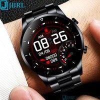Reloj inteligente con pantalla redonda para hombre, pulsera con rastreador de Fitness, compatible con Android, IOS, GPS, podómetro de negocios